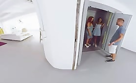 VR Lets Bro Catch Mom and Sis Making Out