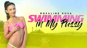 Poolside Masturbation gets Rosaline ready for a Dip