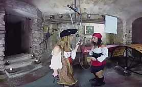 Lesbian pirates in action