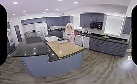 VR Blonde Has a Breakfast of Your Hot Cum