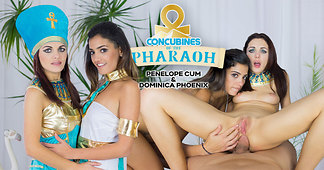 Pharaoh Feeds His Concubines with Creampie