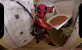 Lady Deadpool Gets a VR Porn Stuffed Pizza