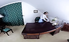 VR Maid Gets Caught Being Naughty and Gets Dicked