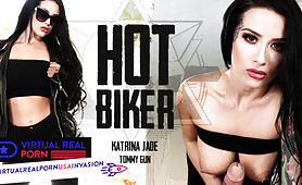 Biker Chick Takes a VR XXX Rides on Your Cock