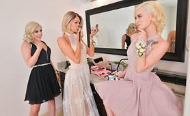 Teens Allie, Emma & Kiara Fuck you Before the VR Prom