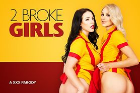 2 Broke Girls Share your Cock in VR