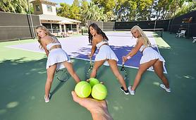 Three Horny Girls Share your Stiff Cock