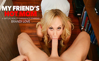 Your friend's busty mom Brandi Love get's her hands on your Cock