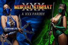 Jade and Kitana Share Pussies Before Mortal Kombat